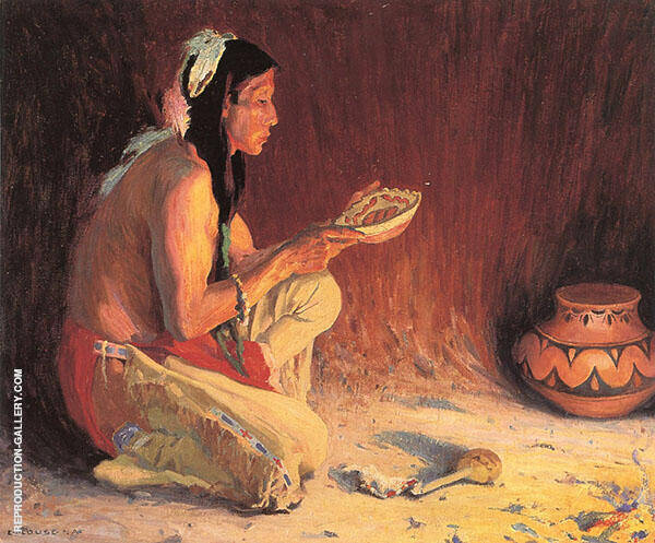 The Sacred Rain Bowl 1921 By E. Irving Couse