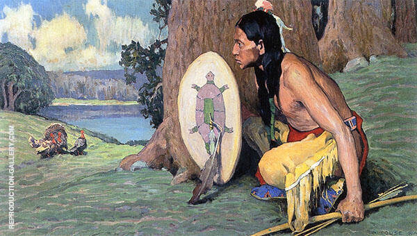 The Turkey Hunter II 1933 By E. Irving Couse