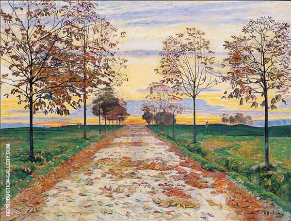 Autumn Evening 1892 By Ferdinand Hodler