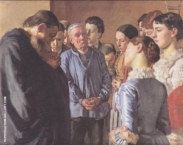 Devotion 1882 By Ferdinand Hodler