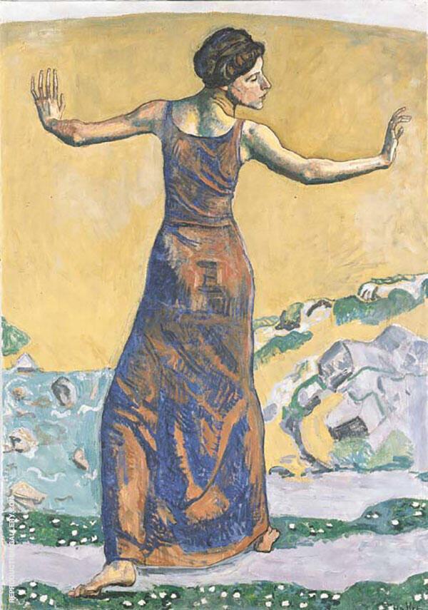 Joyous Woman 1911 By Ferdinand Hodler