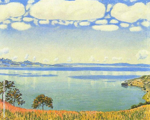 Lake Geneva as Seen from Chexbres 1905 By Ferdinand Hodler