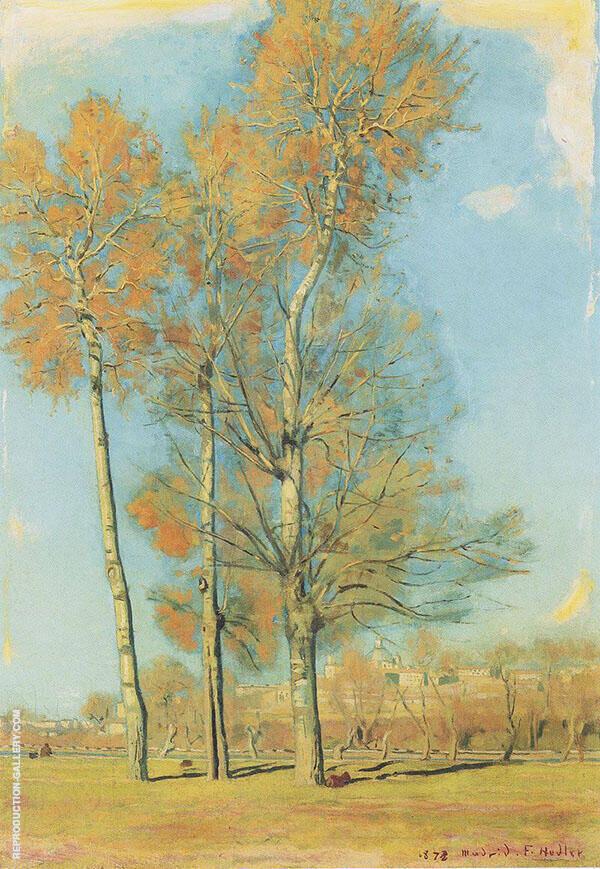Landscape Near Madrid 1878 By Ferdinand Hodler