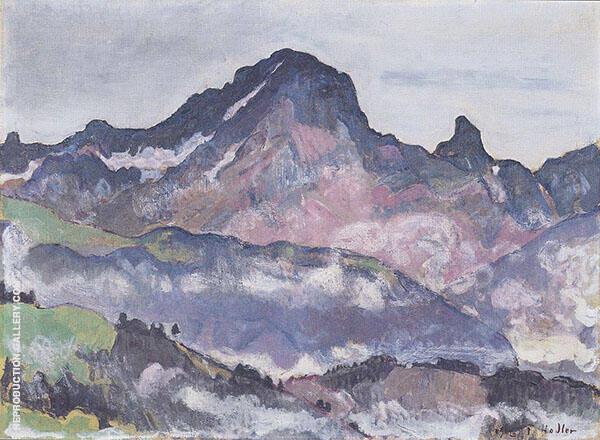Le Grand Muveran 1912 By Ferdinand Hodler