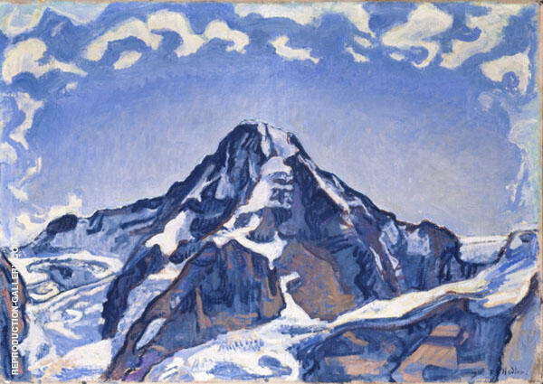 Le Monch in The Clouds 1911 By Ferdinand Hodler