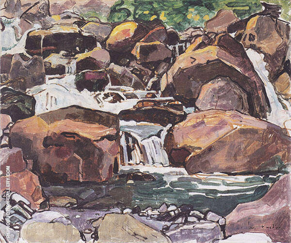 Montain Stream near Champery 1916 By Ferdinand Hodler