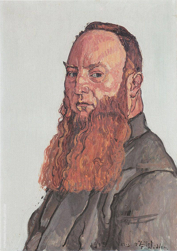 Portrait James Vibert 1915 By Ferdinand Hodler