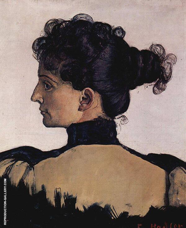 Portrait of Berthe Jacques 1894 By Ferdinand Hodler