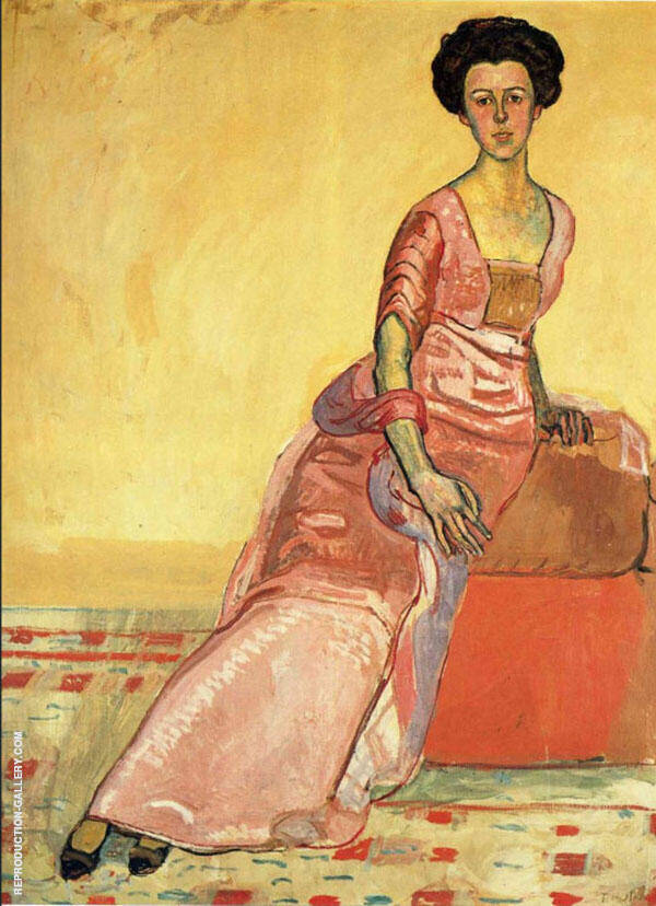 Portrait of Gertrud Muller Painting By Ferdinand Hodler