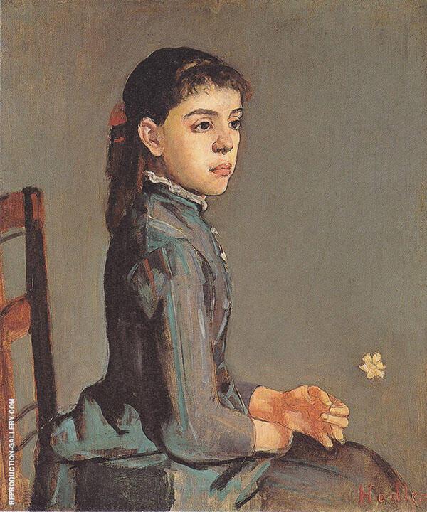 Portrait of Louise Delphine Duchosal 1885 Painting By Ferdinand Hodler