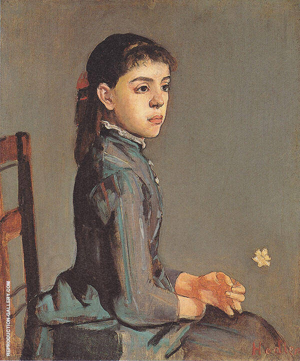 Portrait of Louise Delphine Duchosal 1885 By Ferdinand Hodler