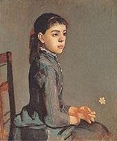 Portrait of Louise Delphine Duchosal 1885 By Ferdinand Hodler