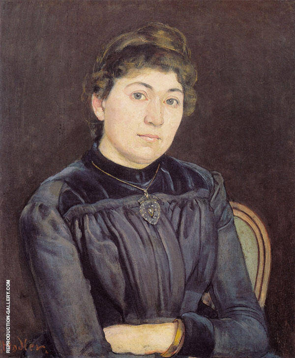 Portrait of Young Woman 1889 Painting By Ferdinand Hodler