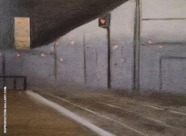Princes Bridge Station c1928 By Clarice Beckett
