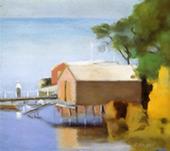 Boatshed Beaumaris c1928 By Clarice Beckett