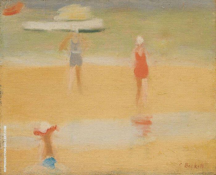 Beach Scene c1932 By Clarice Beckett