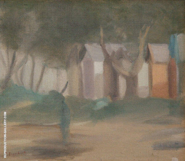 Bathing Boxes 1934 By Clarice Beckett