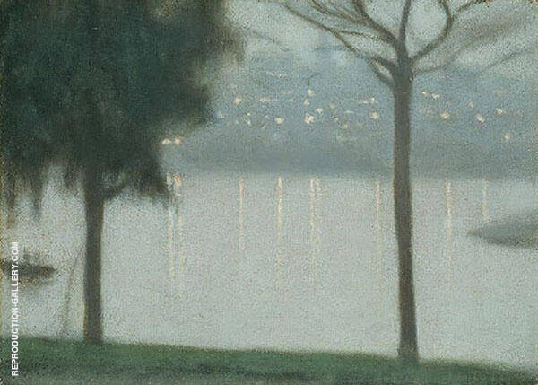Across the Yarra 1931 By Clarice Beckett
