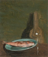 Still Life with Fish, Plate and Bottle c1919 By Clarice Beckett