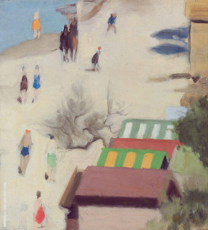 Sandringham Beach Painting By Clarice Beckett - Reproduction Gallery