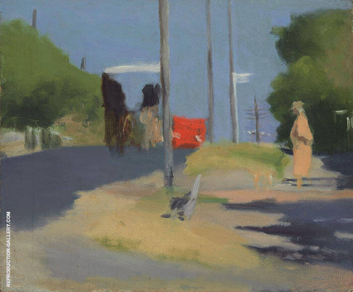 Bay Road 1930 Painting By Clarice Beckett - Reproduction Gallery