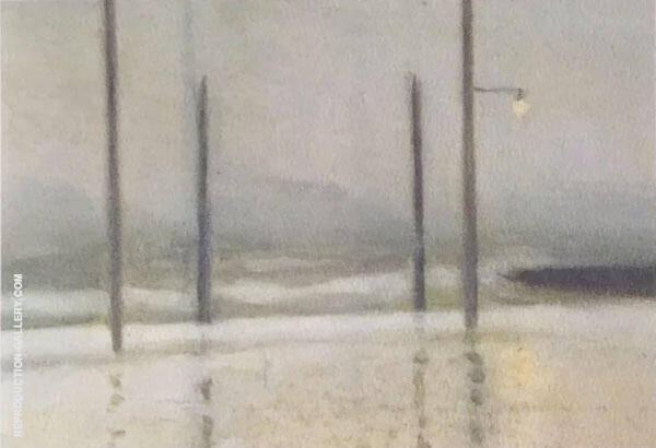 Wet Night, Brighton By Clarice Beckett