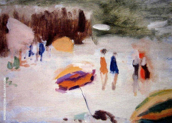 On the Seashore Painting By Clarice Beckett - Reproduction Gallery