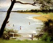 Bathers, Beaumaris By Clarice Beckett
