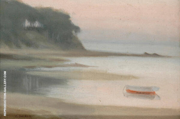Moored Boat, Bayside Painting By Clarice Beckett - Reproduction Gallery
