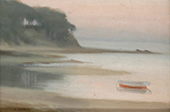 Moored Boat, Bayside By Clarice Beckett