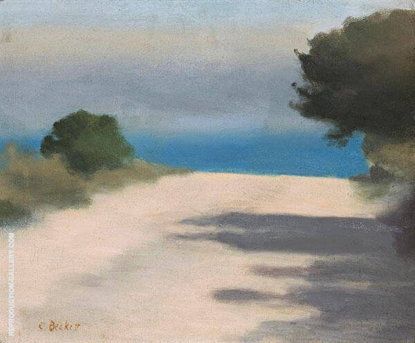 White Road, Anglesea Painting By Clarice Beckett - Reproduction Gallery