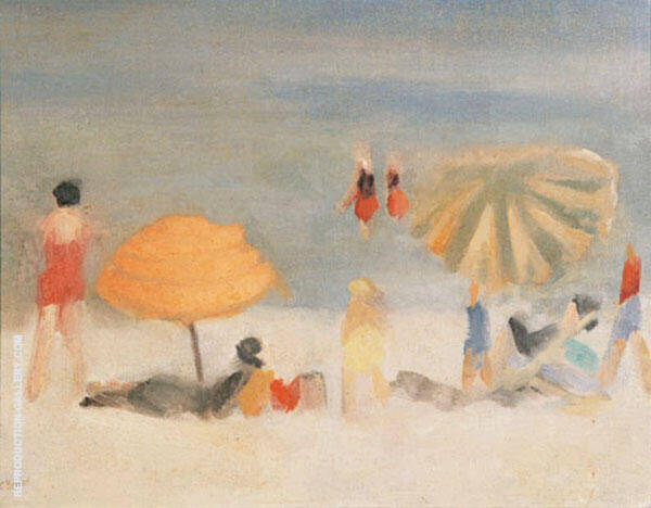 Beach Scene Painting By Clarice Beckett - Reproduction Gallery