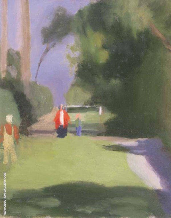 Out Strolling Painting By Clarice Beckett - Reproduction Gallery