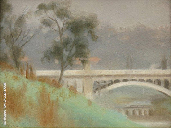 Punt Road Bridge, Yarra River Painting By Clarice Beckett