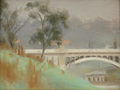 Punt Road Bridge, Yarra River By Clarice Beckett