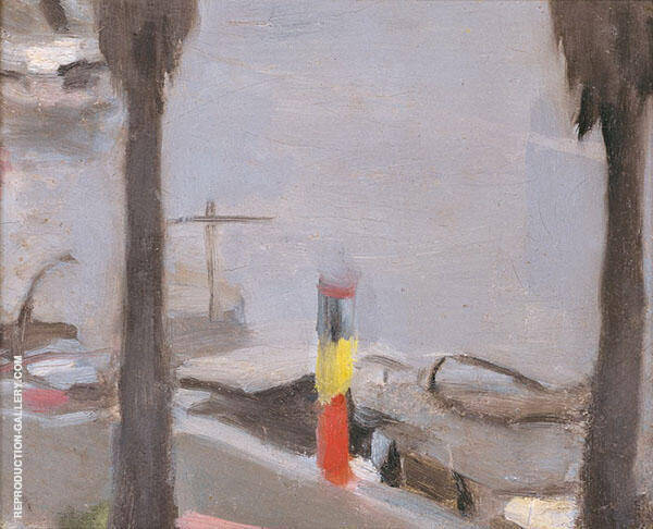 Mordialloc Pier, The Petrol Pump 1927 Painting By Clarice Beckett