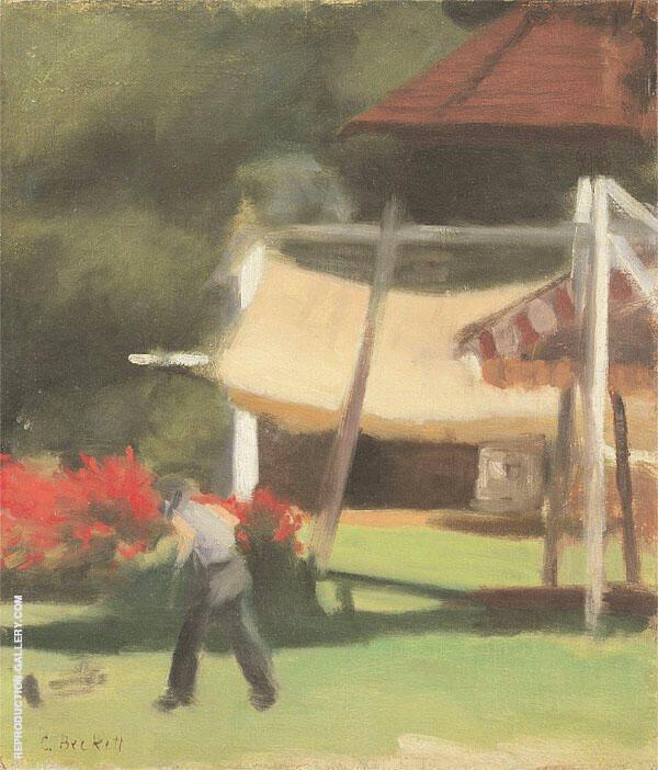 Hawthorn Tea Gardens 1933 Painting By Clarice Beckett