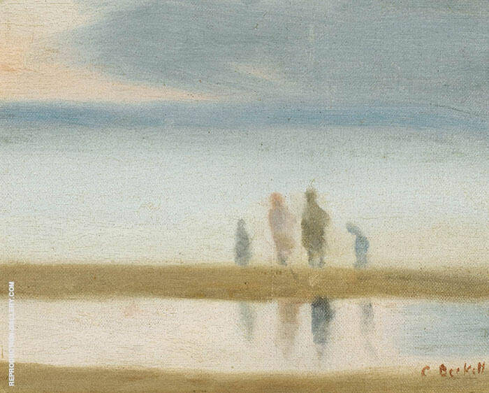 On the Sandbar c1930 Painting By Clarice Beckett - Reproduction Gallery