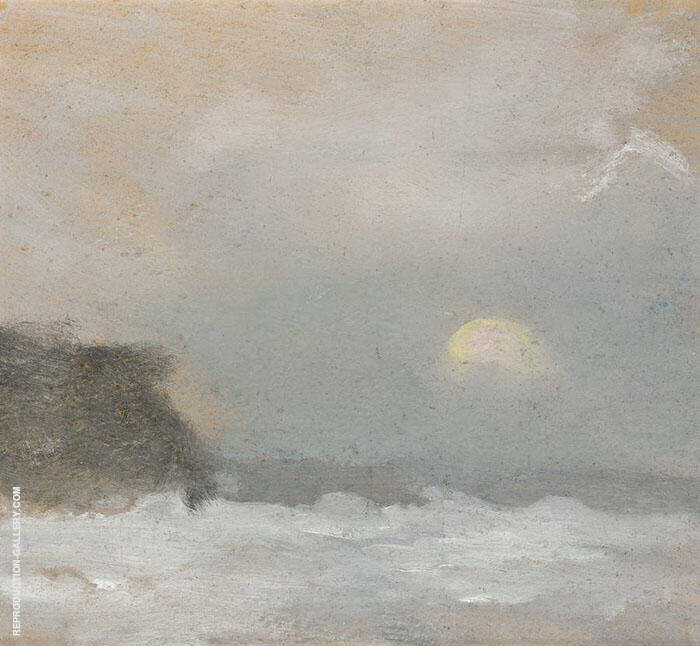 Moonrise, Beaumaris Painting By Clarice Beckett - Reproduction Gallery