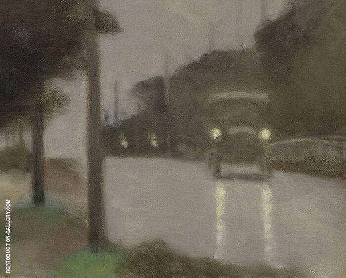 Motor Lights 1929 Painting By Clarice Beckett - Reproduction Gallery
