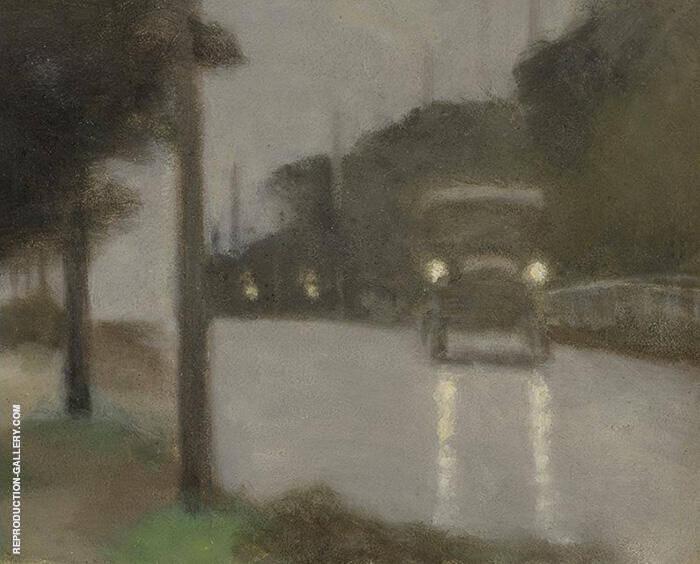 Motor Lights 1929 By Clarice Beckett