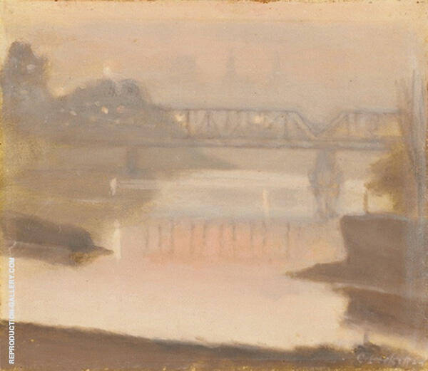 Yarra Sunset 1930 Painting By Clarice Beckett - Reproduction Gallery