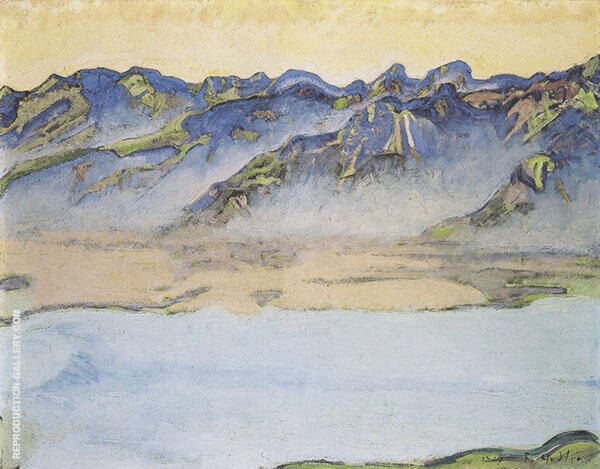 Rising Fog over The Savoy Alps 1917 Painting By Ferdinand Hodler