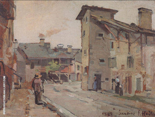 Samoens 1882 Painting By Ferdinand Hodler - Reproduction Gallery