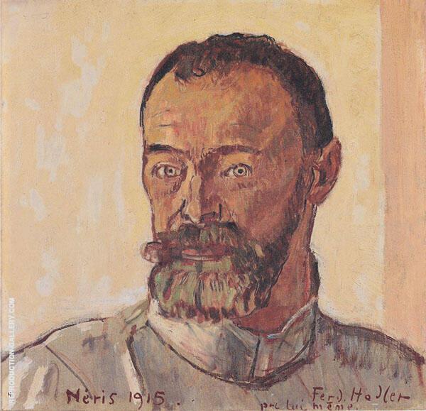 Self Portrait at Neris 1915 Painting By Ferdinand Hodler