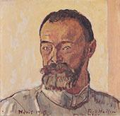 Self Portrait at Neris 1915 By Ferdinand Hodler
