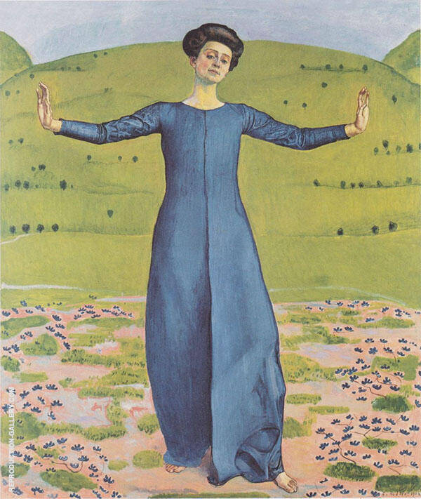 Song from Afar 1906 Painting By Ferdinand Hodler - Reproduction Gallery