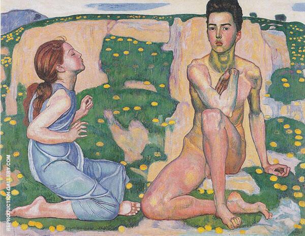 Spring 1901 By Ferdinand Hodler