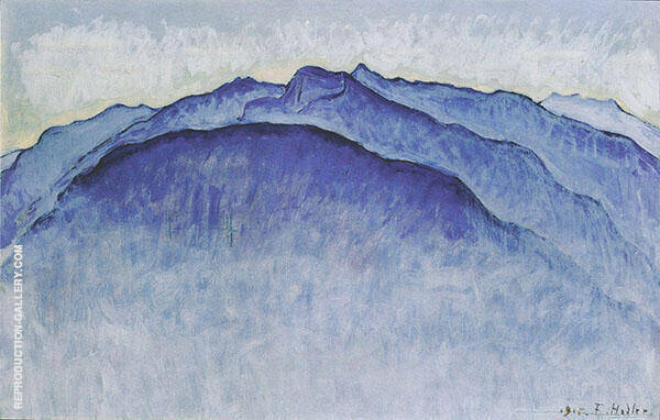 Summit in The Morning c1915 Painting By Ferdinand Hodler