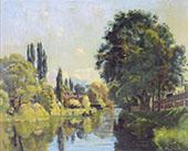 The Aatekanal near Thun 1879 By Ferdinand Hodler
